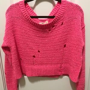 Hollister Distressed Sweater